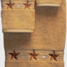 Barn Star 3 pc. Towel Set - Gold