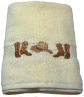 Boots & Hat Embroidered 2 pc Bath