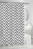 Chevron Grey Shower Curtain