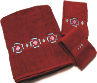 Chimayo SW 3 pc. Towel Set - Pomegranate