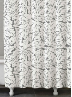 Foglia Grey Shower Curtain