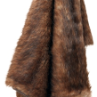 Racoon Faux Fur Throw