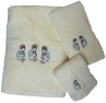 Kokopelli Southwest 3 pc. Towel Set - Ivory