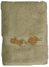 Pinecone Branch Embroidered 2 pc. Bath Towel