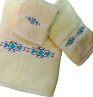 Taos Southwest Towel Set - Ivory Egyptian Cotton