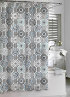 Urban Tiles Shower Curtain - Blue/Grey