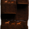 Wild Horses Towel Set - Chocolate