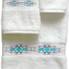 Taos Southwest Towel Set - White Supima Cotton