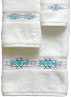 Taos Southwest Towel Set - White Egyptian Cotton