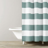 Hampton Stripe Shower Curtain - Spa blue