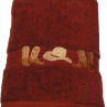 Boots & Hat Embroidered Bath Towel