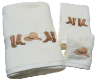 Boots & Hat 3 pc. Towel Set - Ivory