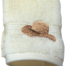 Boots & Hat Embroidered Wash Cloth