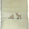Majestic Deer Embroidered Bath Towel