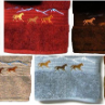 Wild Horses Embroidered Bath Towel