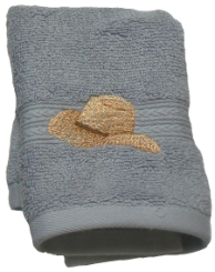 Boots & Hat Embroidered 2 pc. Wash Cloth Set