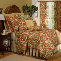 "Captiva Calif King Comforter Set w/18"" Bedskirt"