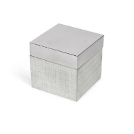 Delano Cotton Jar - Silver