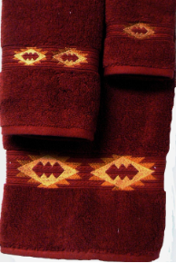 Gallup Southwest Towel Set - Garnet Red