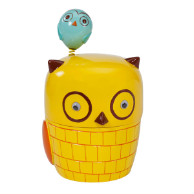 Give A Hoot Cotton Jar
