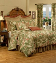 "La Selva Natural Queen Comforter Set w/18"" Bedskirt"