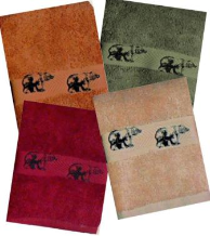 Black Bear Embroidered Hand Towel