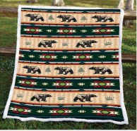 Bear Fever Flannel Fleece Twin Blanket