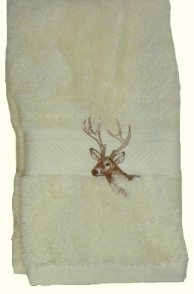 Majestic Deer Embroidered Hand Towel