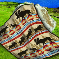 Moose Family Twin Blanket