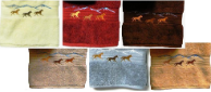 Wild Horses Embroidered Hand Towel