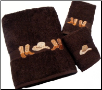 Boots & Hat 3 pc. Towel Set - Chocolate