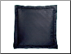 "Bouvier Quilted Black Sham, 26"" x 26"" European"