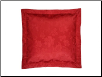 "Bouvier Embossed Red Sham, 26"" x 26"" European"