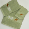 Moose in the Trees Towel Set - Celery