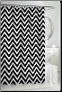 Chevron Black Shower Curtain