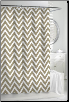 Chevron Linen Shower Curtain