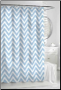 Chevron Spa Blue Shower Curtain