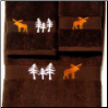 Moose in the Trees Towel Set - Chocolate