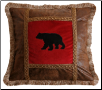 Applique Bear Pillow