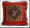 Plaid Buck Pillow