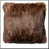 Raccoon Faux Fur Pillow