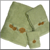 Pinecone Branch Towel Set - Celery