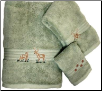Majestic Deer 3 pc Towel Set - Celery