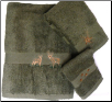 Majestic Deer 3 pc Towel Set - Moss