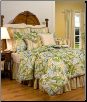 "Paradise Point Queen Comforter Set w/15"" Bedskirt"