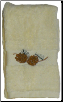 Pinecone Branch Embroidered 2 pc Hand Towel Set