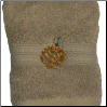 Pinecone Branch Embroidered Wash Cloth