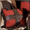 Red Diamond Cross Pillow