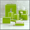 Soho Bath Accessories in Green