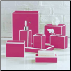 Soho Bath Accessories in Pink